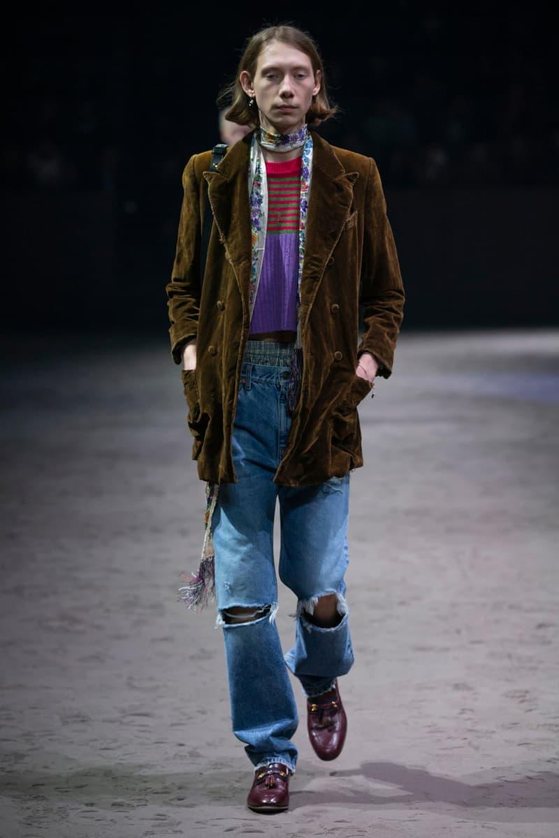 グッチ Gucci Fall/Winter 2020 Collection Runway Show milan fashion week fw20 alessandre michele presentation menswear