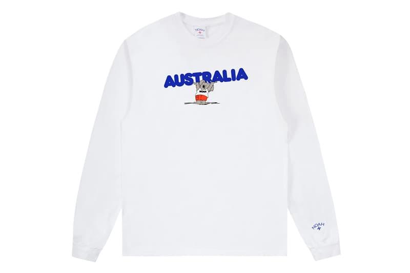 noah ノア Australia オーストラリア wildfire 山火事 火災 wildlife benefit ドネーション 寄付 long sleeve tee tees コアラ charity koala white yellow blue release date info photos price