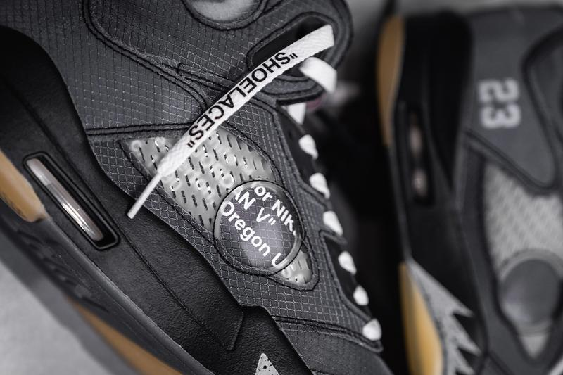 オフホワイト x エアジョーダン 5 にクローズアップ Virgil Abloh(ヴァージル・アブロー) Off White Air Jordan 5 Closer Look Virgil Abloh Release Info Date Fall Winter 2020 Black Buy Price ct8480-001