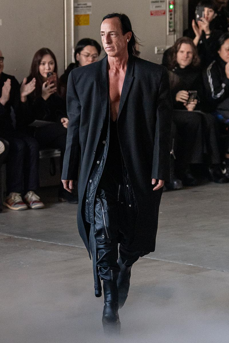 "リックオウエンス 2020年秋冬コレクション Rick Owens ""PERFORMA"" Paris Fashion Week Men's Fall/Winter 2020 Runway Show Closer Look Editorial Lord of Darkness Asymmetrical Collection Menswear Gender Fluid Neutral Leather PVC Mohair Tailoring Biker"