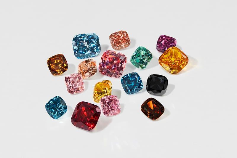スワロフスキー Swarovski からカラー合成ダイヤモンドのコレクションが発売 Swarovski Announces Lab-Grown Colored Diamond collection crystal rare stone marketing less expensive fashion art music architecture