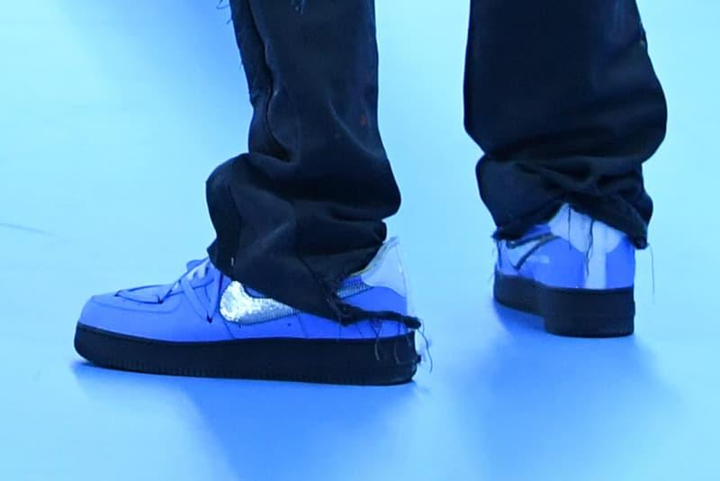 オフホワイト ナイキ エアフォース 1 Off-White™ x Nike Air Force 1 の最新コラボモデルが発覚!? virgil abloh off white nike air force 1 louis vuitton paris fashion week pfw fw20 release date info photos price collaboration sneaker blue first look