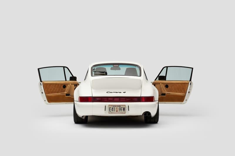 """エメレオンドレ × ポルシェから特別仕様車の詳細が公開 Aimé Leon Dore × Porsche から特別仕様車 """"ALD 964""""の詳細が公開 Aimé Leon Dore 1990 Porsche 964 Carrera 4 911 Collaboration Campaign ALD 694 White Pegasus Schott Leather Loro Piana Teddy Santis Car Studio Photos"""
