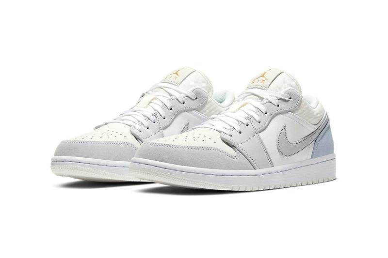 "ジョーダン ブランド エアジョーダン Jordan Brand から優雅なカラーリングを纏った Air Jordan 1 Low ""Paris"" が登場 air jordan brand 1 low paris white sky grey football CV3043 100 release date info photos price"