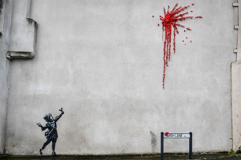 バンクシー Banksy がバレンタインデーに向けた作品を故郷ブリストルの民家に描く