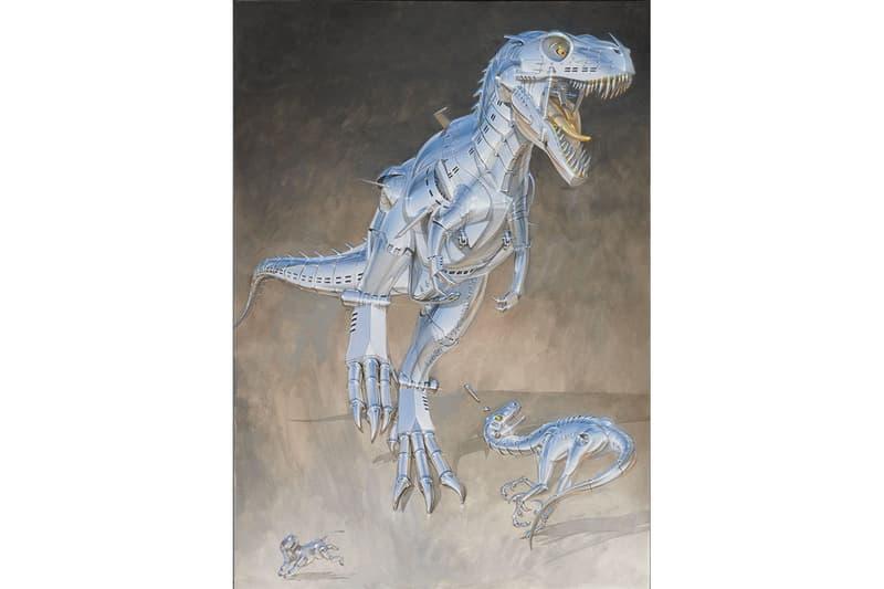 """空山基が新作個展 """"Sex Matter"""" と """"Trex"""" を同時開催 Hajime Sorayama """"Sex Matter"""" NANZUKA Exhibition Robots Paintings Dinosaurs """"Trex"""" """"2G"""" Studio Tyrannosaurus Stegosaurus Gold Silver"""