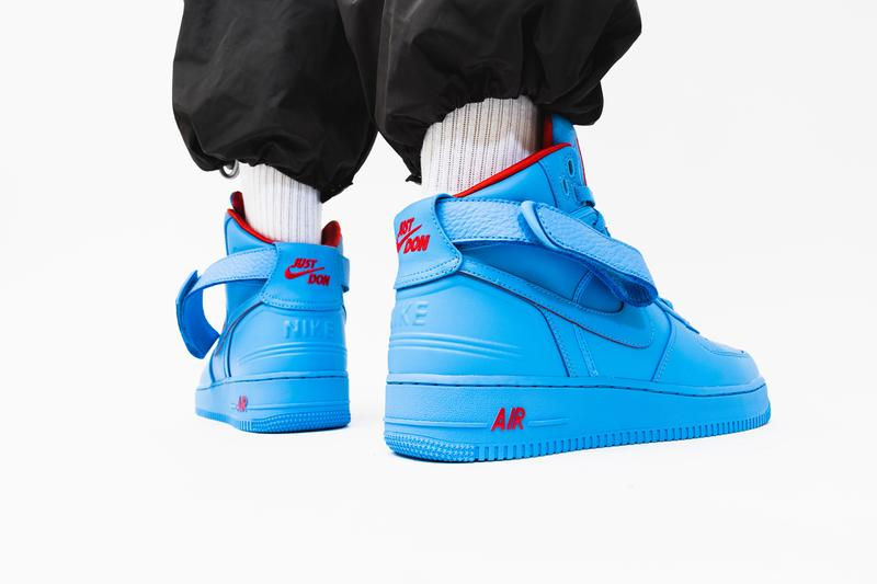 "ナイキ エアフォース1 Just Don × Nike よりシカゴへのオマージュを捧げた Air Force 1 Hi ""Chicago"" が登場  just don c nike air force 1 2 3 hi high nba all star chicago university blue red cw3812 400 release date info photos price american express amex"