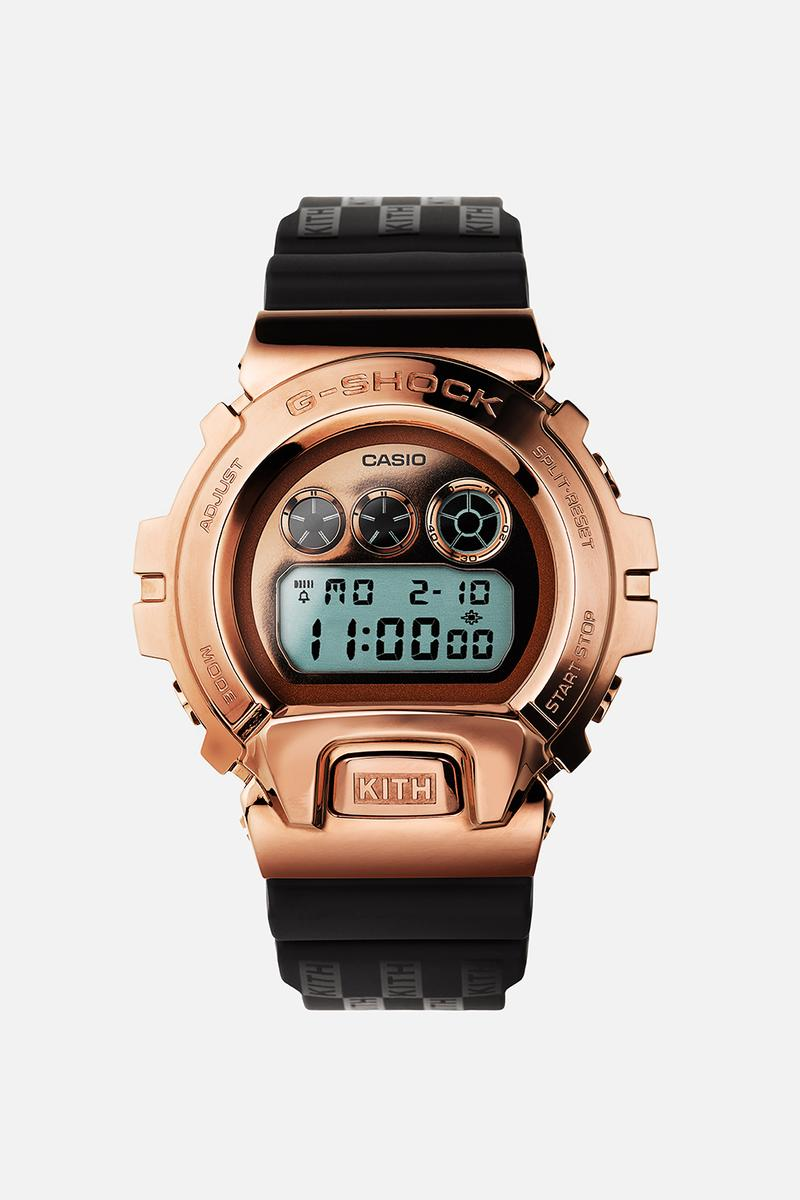 KITH x G-SHOCK よりローズゴールドで彩られた GM-6900が発売 KITH Casio G-SHOCK GM-6900 Rose Gold