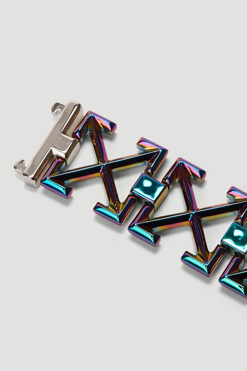 Off-White™ が定番のアローロゴをモチーフとした新作ブレスレットを発表 Off White Iridescent Arrows Bracelet Release Info Buy Price Virgil Abloh LN-CC