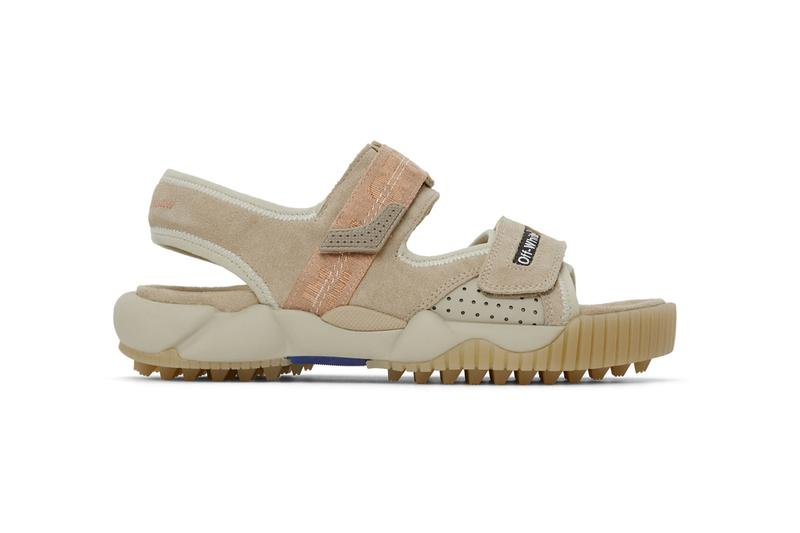 Off-White™ からトレッキング用のサンダルが登場 Off-White™ Oddsy Trekking Sandals: Blue, Beige, Black Hiking Trails ssense