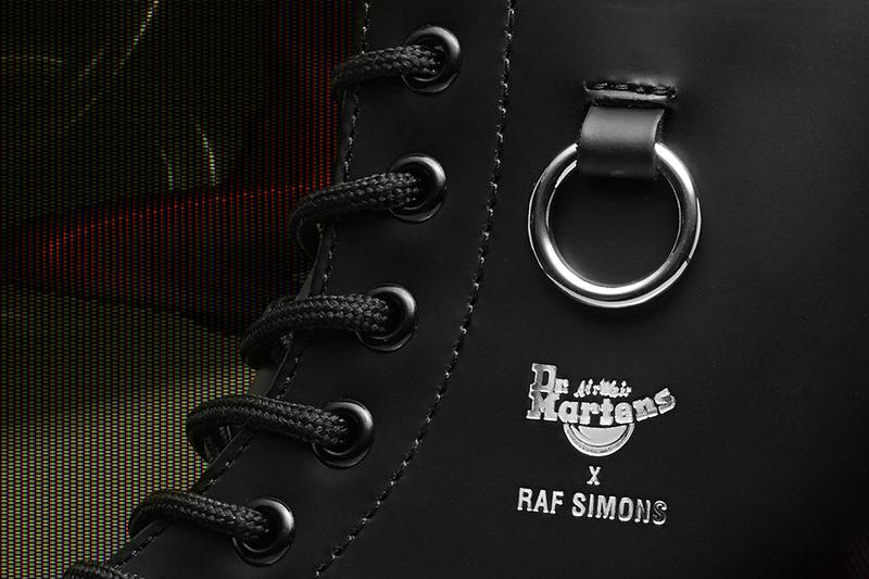 Raf Simons × Dr. Martens のコラボによる8ホールブーツが発売 Raf simons dr martens spring summer 2020 release information 1460 remastered boots metal hooks buy cop purchase