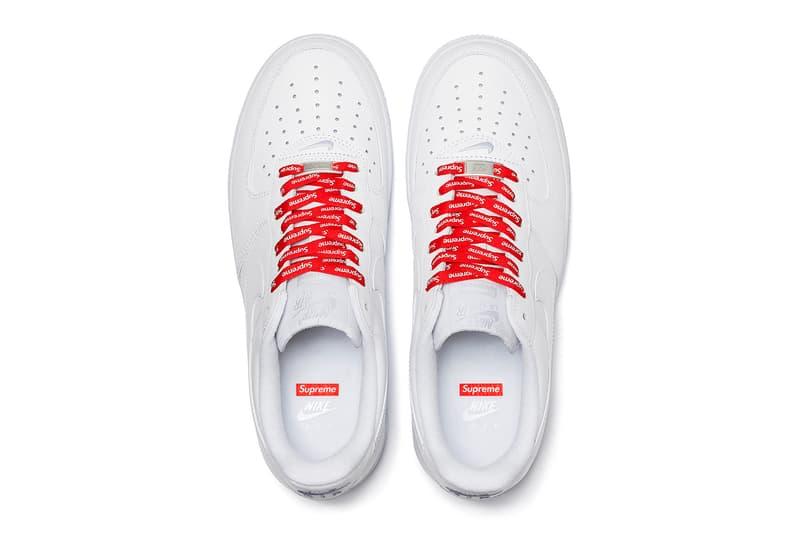 シュプリームが2020年春夏の最新コラボ エアフォース1を解禁 Supreme Nike Air Force 1 Low Official Look Release Info Date Buy Price Spring Summer 2020 Black White CU9225-100 CU9225-001