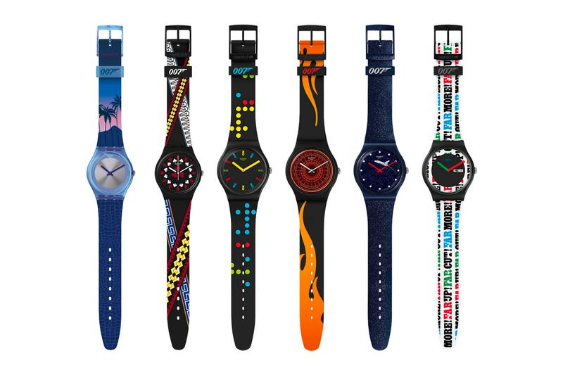 "swatch がJames Bond にちなんだ""X 007"" カプセルコレクションを発表 swatch x 007 james bond no time to die watches accessories gent Dr No On Her Majesty's Secret Service Moonraker Licence to Kill The World is Not Enough Casino Royale"
