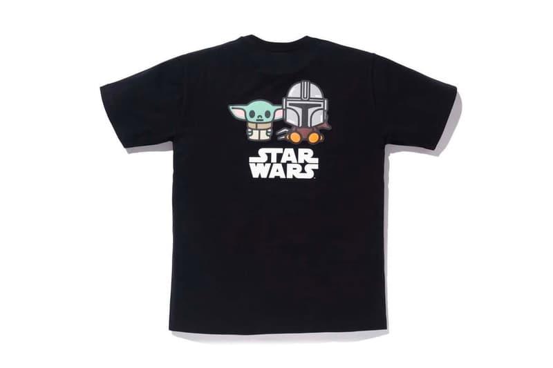 BAPE®️ ×ドラマ『ザ・マンダロリアン』が遊び心のあるカプセルコレクションを展開 The Mandalorian BAPE Capsule Collection Release Info Buy T shirt Black White Baby Yoda Milo Lucasfilm