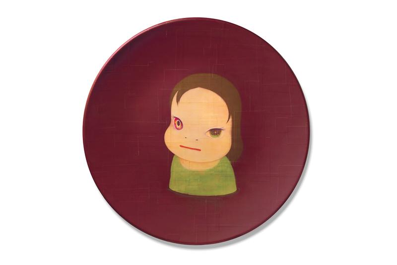 """奈良美智の""""Dead of Night""""が Christie's 主催のオークションに出品 Yoshitomo Nara 'Dead of Night' Christie's London Auction Post-War and Contemporary Art Evening Sale Girl Green Purple Burgundy Circular FRP Panel"""