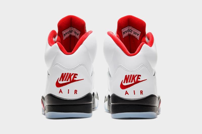 """エアジョーダン5""""Fire Red""""の復刻リリース情報が解禁 air jordan 5 fire red da1911 102 2020 release date info photos price white black nike"""