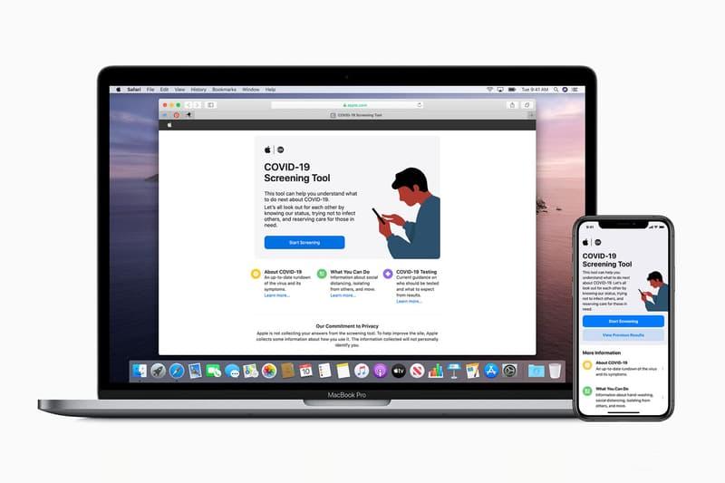 アップル Apple が新型コロナウイルスの自己診断が可能なアプリとウェブサイトを公開 Apple COVID 19 Screening App Website CDC Guidelines coronavirus siri seek testing emergency care Federal Emergency Management Agency fema pandemic illness symptoms