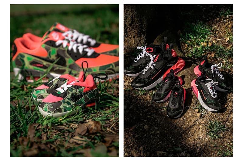 """アトモスがナイキ エアマックス atmos が Nike Air Max 90/2090 """"Duck Camo"""" のローンチを記念したカプセルコレクションを発表"""