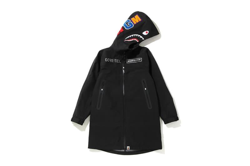 ベイプ ゴアテックス BAPE®️ から GORE-TEX を採用したカプセルコレクションが登場 BAPE GORE-TEX Capsule Spring/Summer 2020 Collection parka jacket pants track bucket hat shark mouth logo print graphic ss20 release date info buy march 28