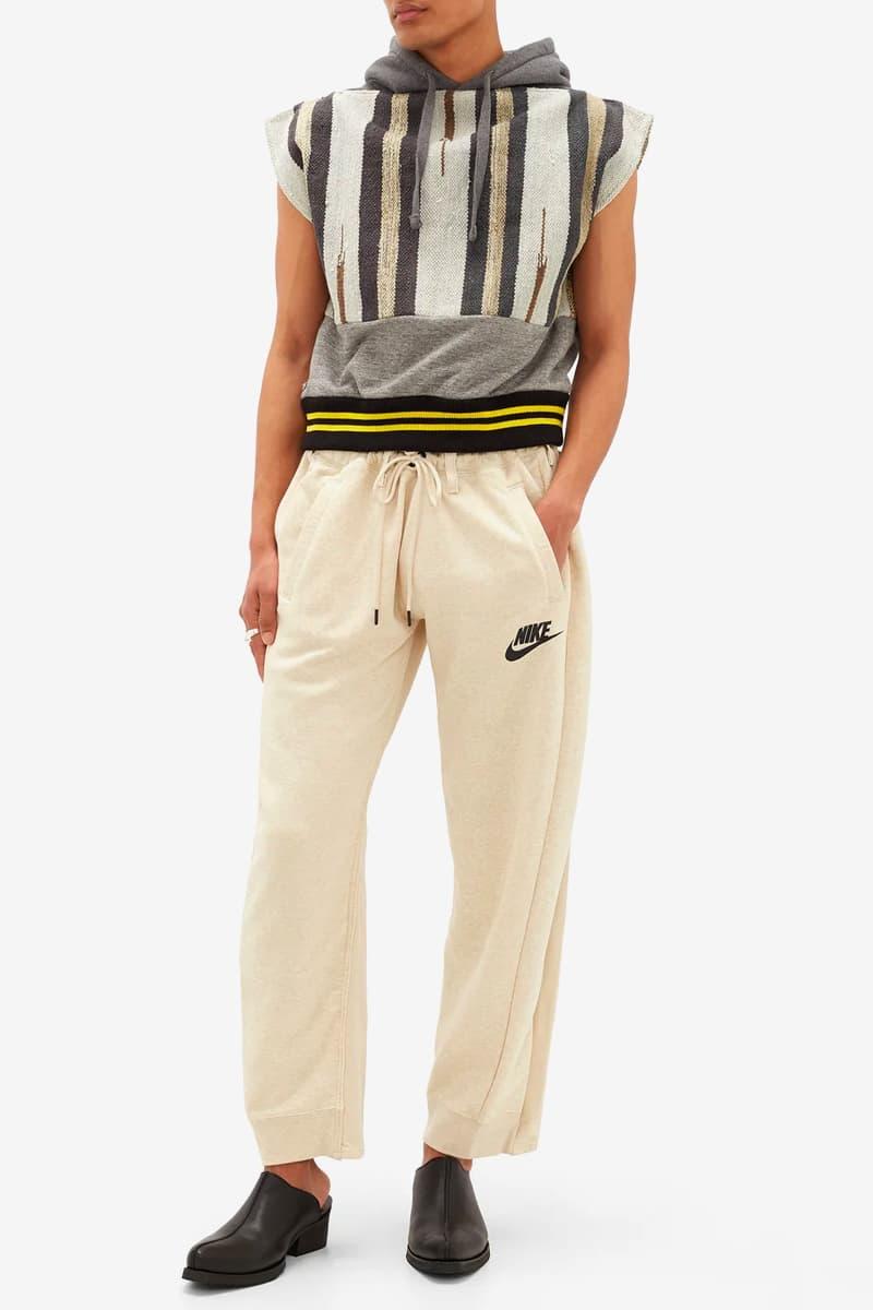 ナイキとリーバイスをドッキングさせたリメイクパンツの新作が登場 BLESS Nike Levis Upcycled Jersey Denim Track Pants release matchesfashion Release Info Black Beigi