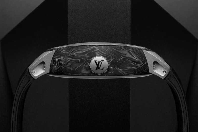 ルイ・ヴィトン Louis Vuitton からフライングトゥールビヨンを搭載した新作ウォッチが登場 Louis Vuitton Tambour Curve Flying Tourbillon Poinçon de Genève Watch Black