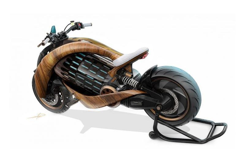 フランスのバイクメーカー Newron Motors が木製の電動バイクを発表  newron motors french france ev 1 motorcycle electric ev wood wooden bike battery motor concept limited edition