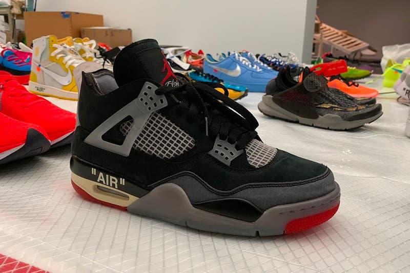 """オフホワイト エアジョーダン 4 """"ブレッド"""" Off-White™ x Air Jordan 4 """"Bred"""" 発売の噂が浮上 Off White Air Jordan 4 Bred Release Rumor Info Buy Price Virgil Abloh Nike"""