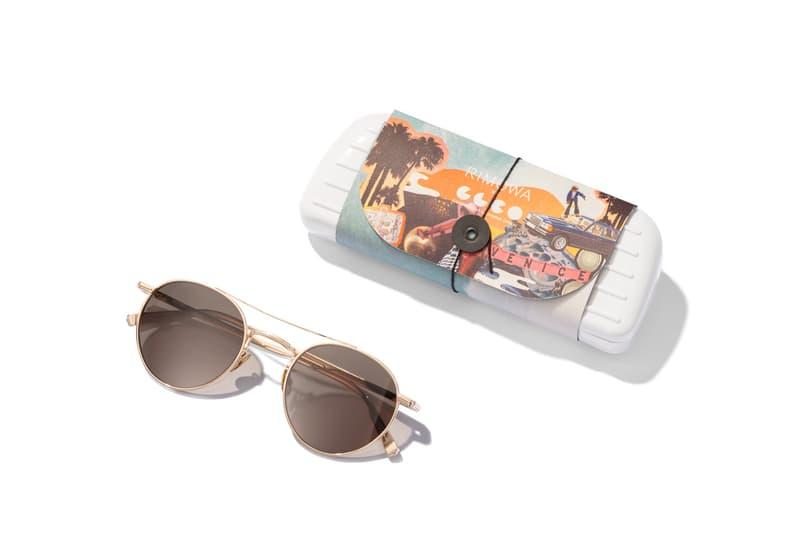 リモワ ギャレット・レイト・カリフォルニア・オプティカル GLCO RIMOWA × Garrett Leight California Optical よりカリフォルニアのカルチャーに敬意を表したカプセルコレクションが発売  GLCO x RIMOWA Capsule Collection Release Suitcase Luggage Tag Sticker Set Sunglasses Surf Wax Towels California Coast Venice Beach Surf Culture Psychedelic Art