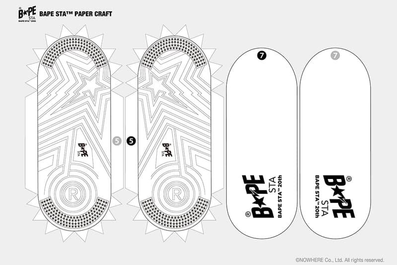 べイプ ベイプスタ BAPE®️ から定番スニーカー BAPE STA™ のペーパークラフト用の図面が無料ダウンロード可能に