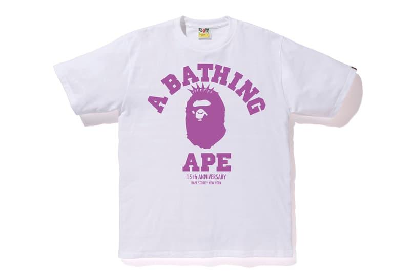 ベイプ ストア BAPE STORE® NYC 15周年を記念したカプセルコレクションが発売 Bape NYC 15th ANNIVERSARY COLLECTION new york city flagship store shop fifteenth a bathing ape generals statue of liberty graphics artwork print logo april 18 2020