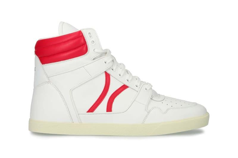 セリーヌ CELINE から1990年代のブレイクダンスシーンにインスパイアされたバッシュ型スニーカーが登場 celine break mid lace up laceup sneakers sneaker red blue black