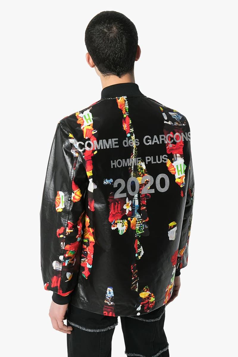COMME des GARÇONS Homme Plus が2020年春夏コレクションからジャケット2型をリリース COMME des GARCONS HOMME PLUS floral coated cotton bomber jacket shirt menswear streetwear cdg rei kawakubo spring summer 2020 collection japanese made in japan designer leather black hawaiian flight