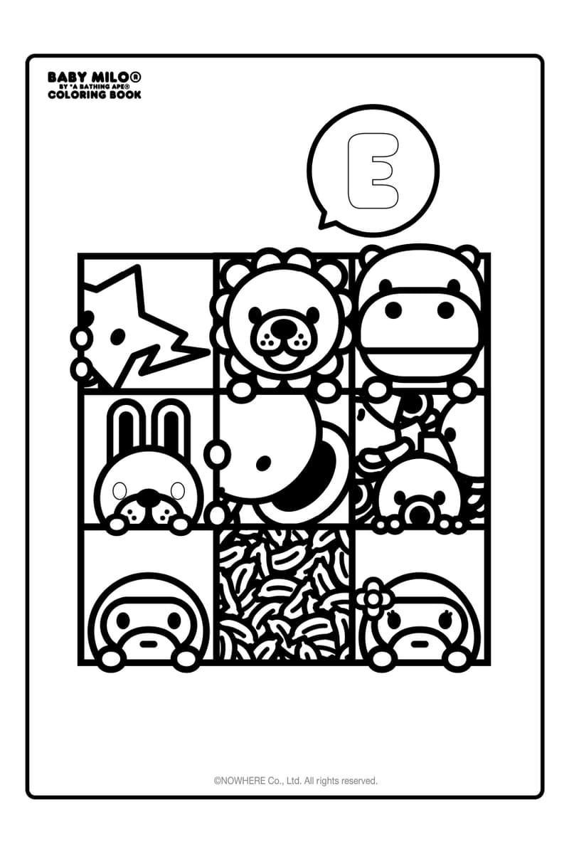 """BAPE® ア・ベイジング・エープ の人気キャラクター""""BABY MILO®""""の塗り絵が登場"""