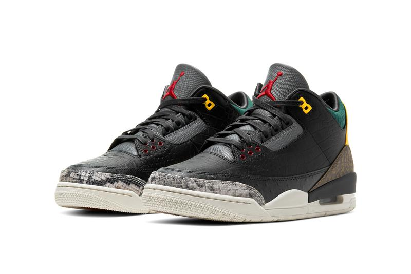 "マルチカラーを用いたエキゾチックな Air Jordan 3 ""Animal Instinct"" シリーズ第2弾が登場 air jordan brand 3 animal instinct 2 0 black multi color sail green yellow red CV3583 003 release date info photos price store list"