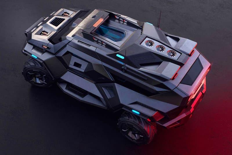 サイバー感の漂う近未来的な装甲SUVのビジュアルが公開 ARMORTRUCK bulgarian concept artist Milen Ivanov survival vehicle steel titanium Kevlar carbon fiber bulletproof wheels