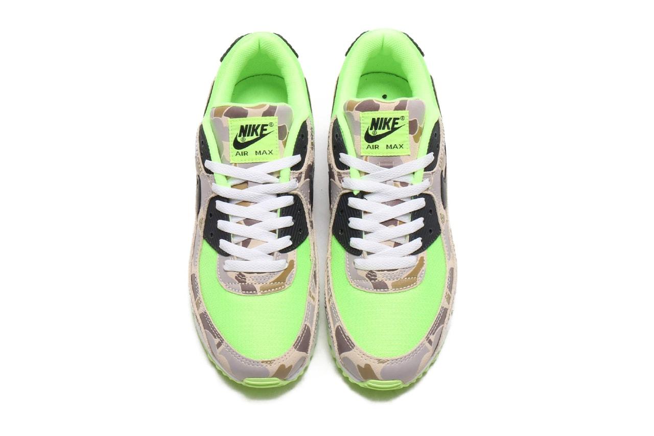 "atmos アトモス が Nike Air Max 90 ナイキ エアー マックス 90の新作モデル""Green Camo""を限定リリース"