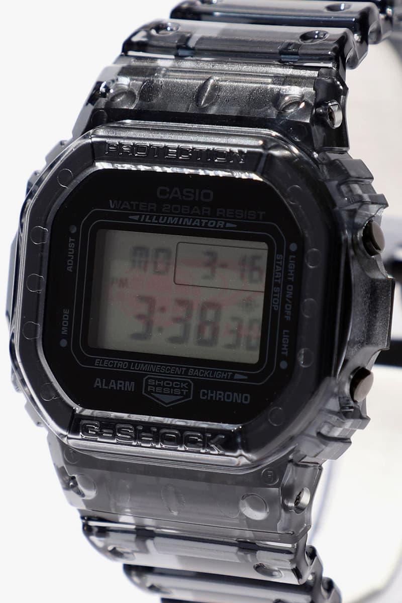 ビームズ ジーショック BEAMS x G-SHOCK によるスケルトン仕様の別注モデル第2弾が登場 BEAMS BPR, Boy x G-SHOCK DW-5600, GMN-691 watches spring summer 2020 collaboration timepieces mini exclusive 5600BEAMS20-8JR GMN-691 june july release date japan