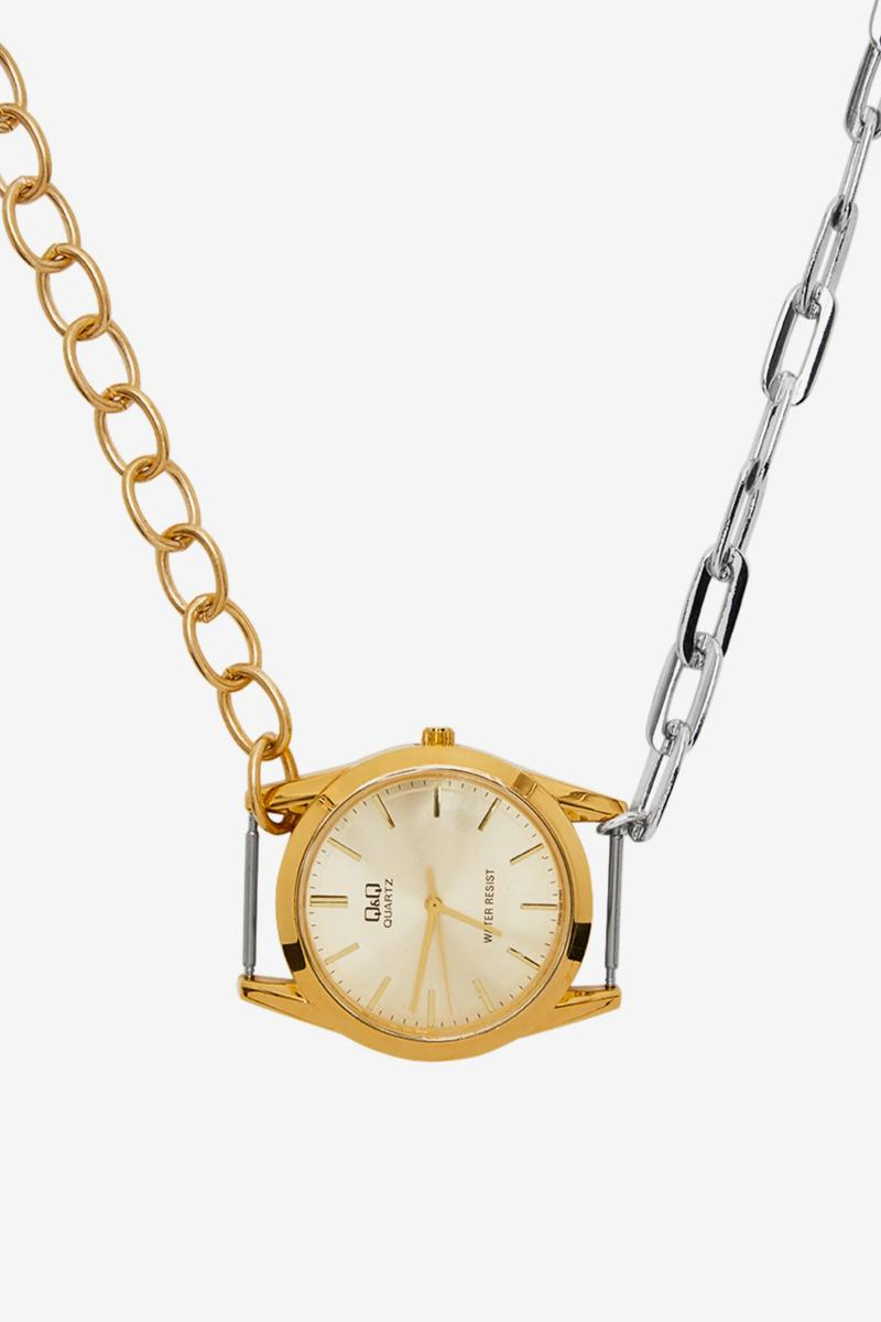 """BLESS から時計をモチーフとした新作ネックレス """"Materialmix"""" が登場 BLESS Materialmix Necklace Release SSENSE Silver Gold Buy Info Price Q&QDesiree Heiss(デジレー・ハイス)とInes Kaag (イネス・カーグ)が手がけるドイツ・ベルリン発のブランド〈BLESS(ブレス)〉"""