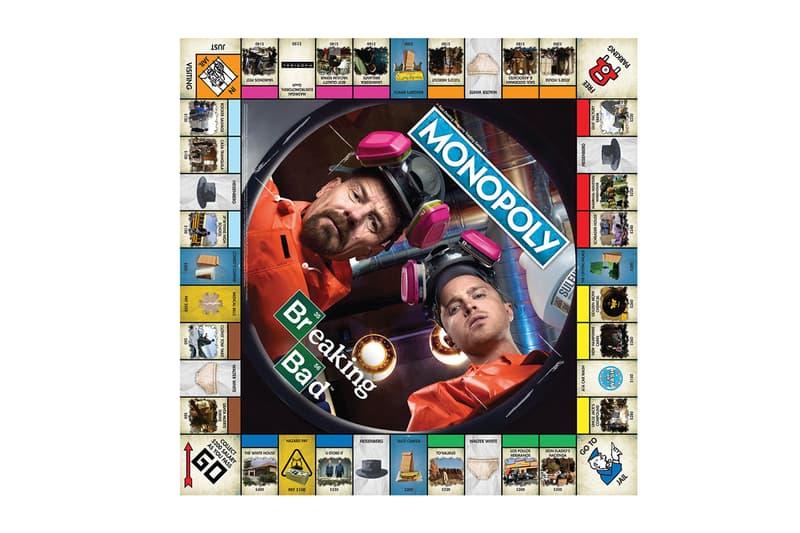 名作海外ドラマ『ブレイキング・バッド』のモノポリー『Monopoly』が登場 Breaking Bad Monopoly Board Game Hasbro Heisenberg Hat Tio Bell Money Barrel Gas Mask Pink Teddy Bear RV tent houses SuperLabs Walter White