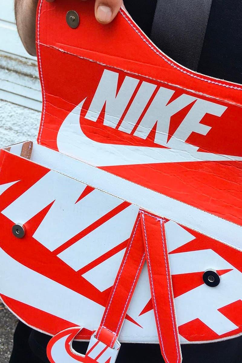 ナイキ ディオール Nike のシューズボックスを再構築した DIOR サドルバッグが登場? camera60studio Nike Shoebox Dior Saddle bag Custom Info Matteo Bastiani Chiara Rivituso