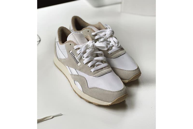 ジョウンドがリーボックとの新たなコラボモデルを公開 JJJJound x Reebok Classic Nylon First Look earth tones white beige suede cream foam midsole rubber outsole