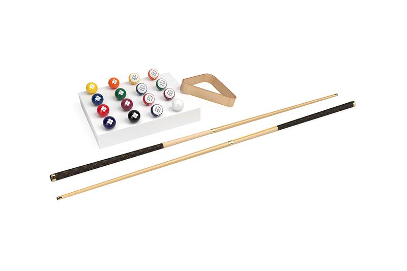 Louis Vuitton からカスタマイズ可能なモノグラム柄を施した高品質な仕様のビリヤード台が登場 louis vuitton billiards set made to order release information details homeware pool snookeer balls cue table buy cop purchase order