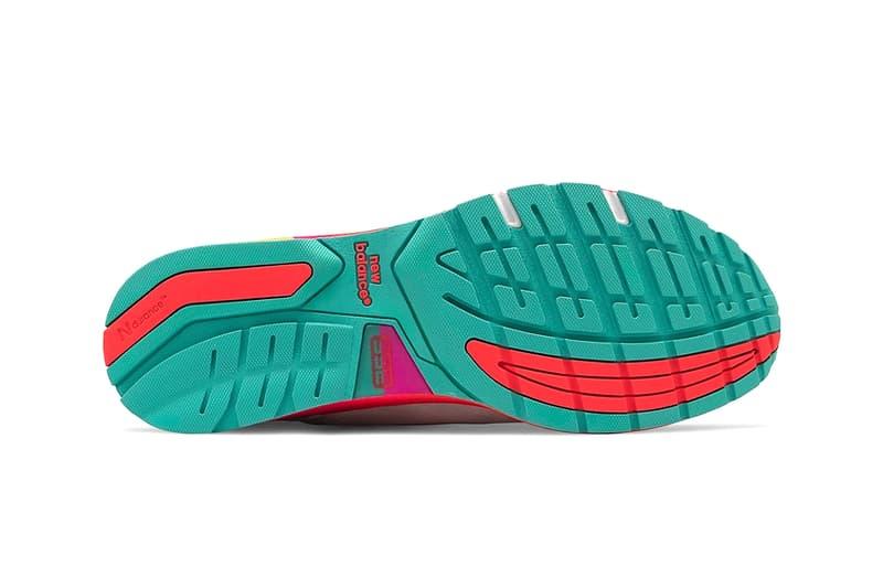 夏らしいマルチカラーのソールを装備した新作 New Balance 992 が登場 new balance 992 runner sneaker shoes multi color sole midsole