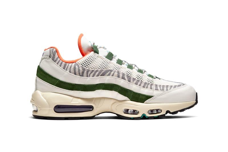 """ナイキ エアマックス95 エラ Nike からゼブラ柄を取り入れた新作 Air Max 95 """"Era"""" が発売 nike sportswear air max 95 era sail new forest green CZ9723 100 official release date info photos price store list"""