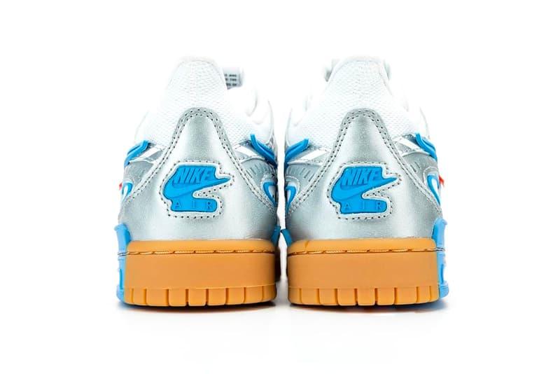オフホワイト x ナイキの最新コラボ Air Rubber Dunkが浮上 〈VAINL ARCHIVE(ヴァイナル アーカイブ)〉Off White Nike Air Rubber Dunk University Blue First Look CU6015-100 Release Info Buy Price