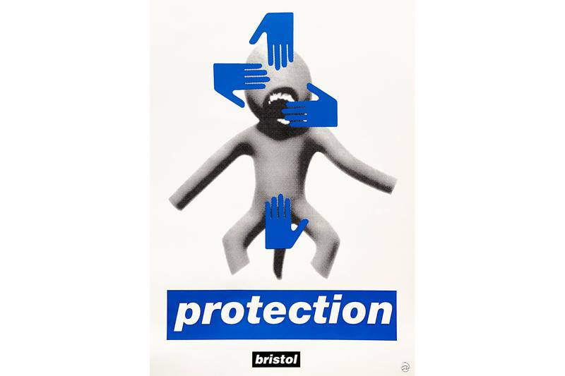 "Massive Attack のメンバー Robert Del Naja が 新作""Protection"" と題したプリントをリリース robert del naja protection print bristol food union feed the frontline intervention artworks prints editions"