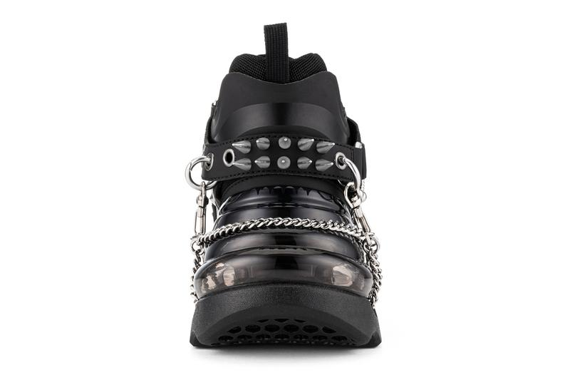 SHOES 50345 からパンク感漂うオールブラックを基調とした新作 Bump'Air High Top 2型が登場  SHOES 53045 Bump'Air High Top Black Gothic Release Info sneaker shoes footwear designer where to cop drop details price COVID-19 Student Resource Food Fund DAVID TOURNIAIRE-BEAUCIEL bajowoo 99%iS