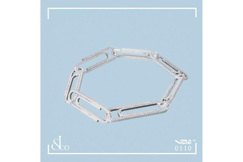 """ヴァージルアブローの完全受注生産ジュエリーラインに新作が追加 Virgil Abloh x Jacob & Co. New """"Office Supplies"""" Paperclips Bracelets Earrings Gold Rose White Yellow Diamonds"""