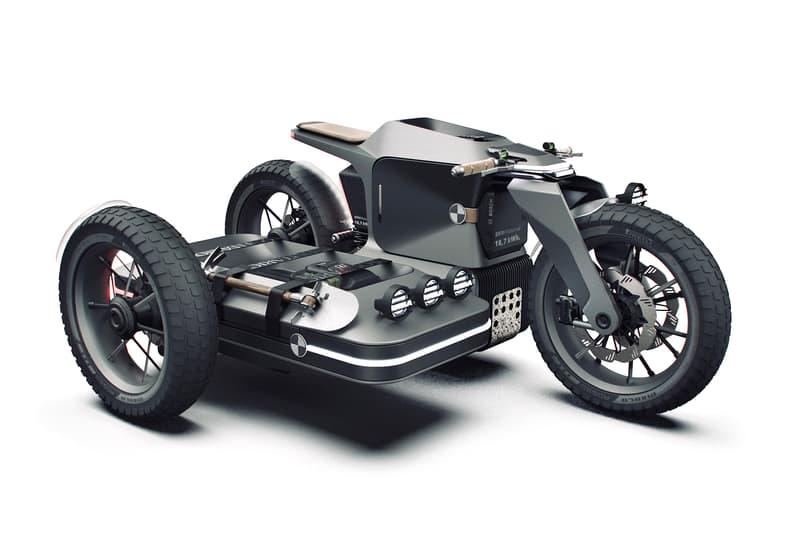BMW Motorrad × ESMC モデルを再構築したオフロードバイクの近未来的なコンセプトデザインが公開 BMW MOTORRAD ESMC OFF ROAD MOTORCYCLE CONCEPT Iago Valino LED headlamps clearance powered 18 7 kWh battery