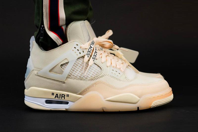 "オフホワイト x エアジョーダン Off-White™ x Air Jordan 4 ""Sail"" にクローズアップ Off White Air Jordan 4 Sail Closer Look CV9388-100 Info Buy Price Date Release Virgil Abloh Muslin White Black WMNS womens"